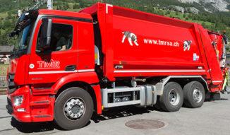 Camion de gestion des déchets